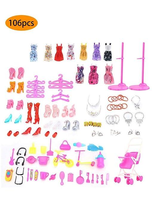 LUCYPAPASHOW Vestidos Barbie, 106 Piezas Accesorios Barbie ...