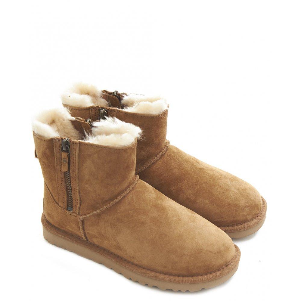 f79b80ca197 UGG, Women, Boots, Classic Mini Double Zip