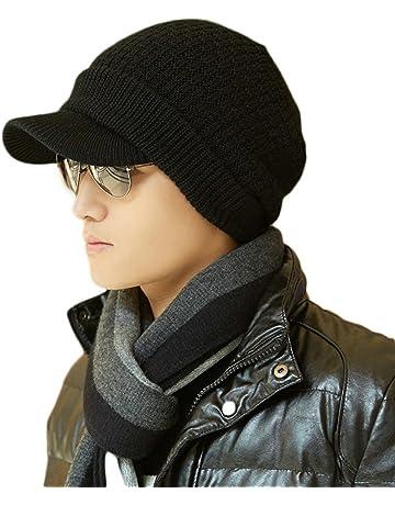 00bd2396aa0 SIGGI Wool Knit Visor Beanie Jeep Hat Winter Hunting Skiing Unisex Warm