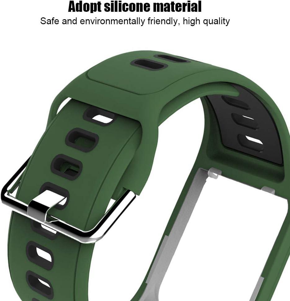 Noir Rouge Bracelet de Montre Bracelet pour Golfer2 Adventunrer Bracelet Bicolore en Silicone Sport Bracelet pour Poignet Remplacement de Courroie de Bracelet pour Tom Tom Spark Runner2//3