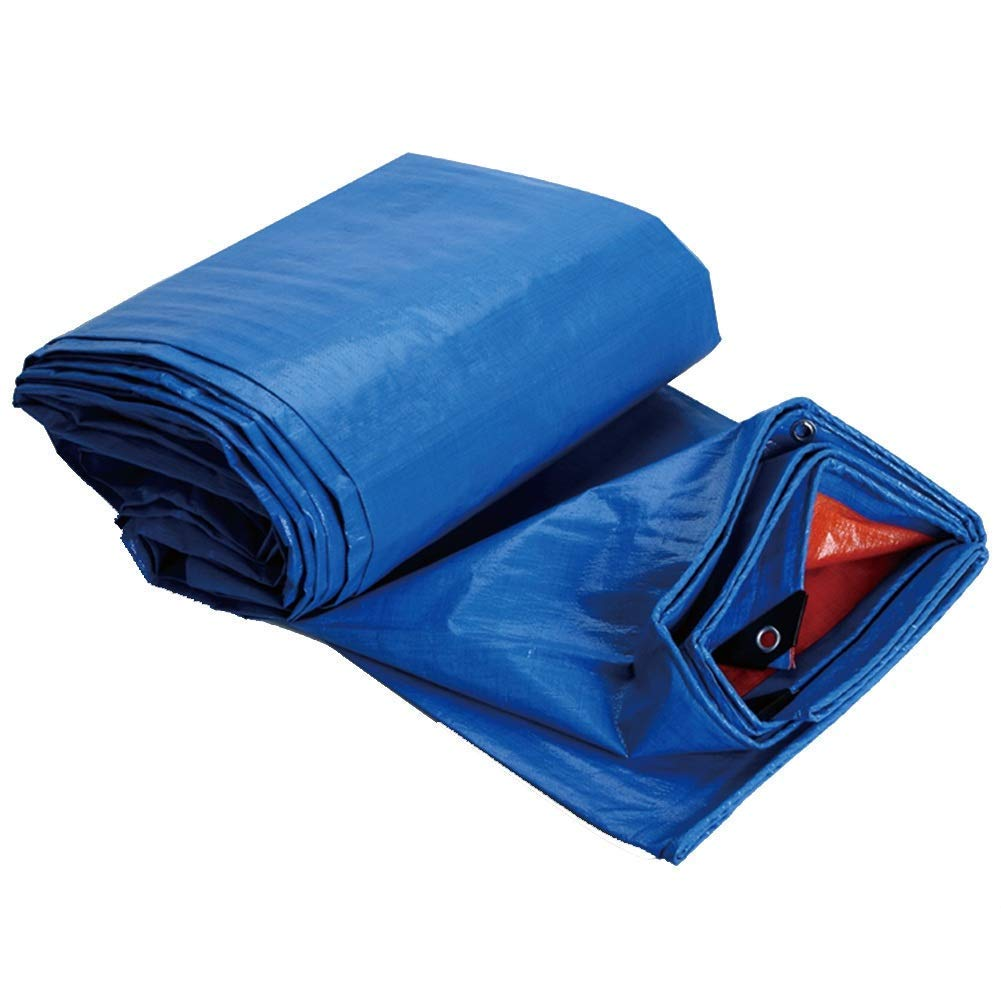 MSF Zeltplanen Outdoor Camping Picknick-Plane doppelseitig (Blau + Rot) Wasserdichte Plane UV-geschützt Gartenbaum Pflanzenschutzplane, 160g   m², Dicke 0,3 mm (größe   3.8x5.8m)