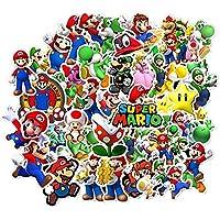 Labeol 100 Pack Super Mario Bros Cartoon Stickers Waterproof Stickers for Waterbottle,Laptop,Phone,Bicycle Motorcycle…