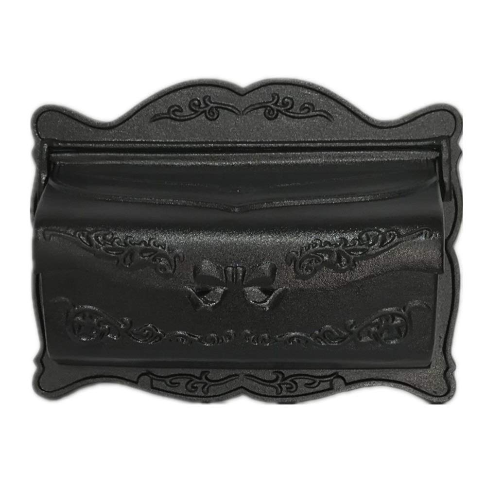 Rui Peng メールボックス - 金属製、小さな壁に取り付けられた別荘屋外防水防錆メールボックスメールボックス、別荘、中庭、住宅用 - 5色あり ウォールマウントメールボックス (色 : Black vertical pattern)  Black vertical pattern B07Q2CX8D8