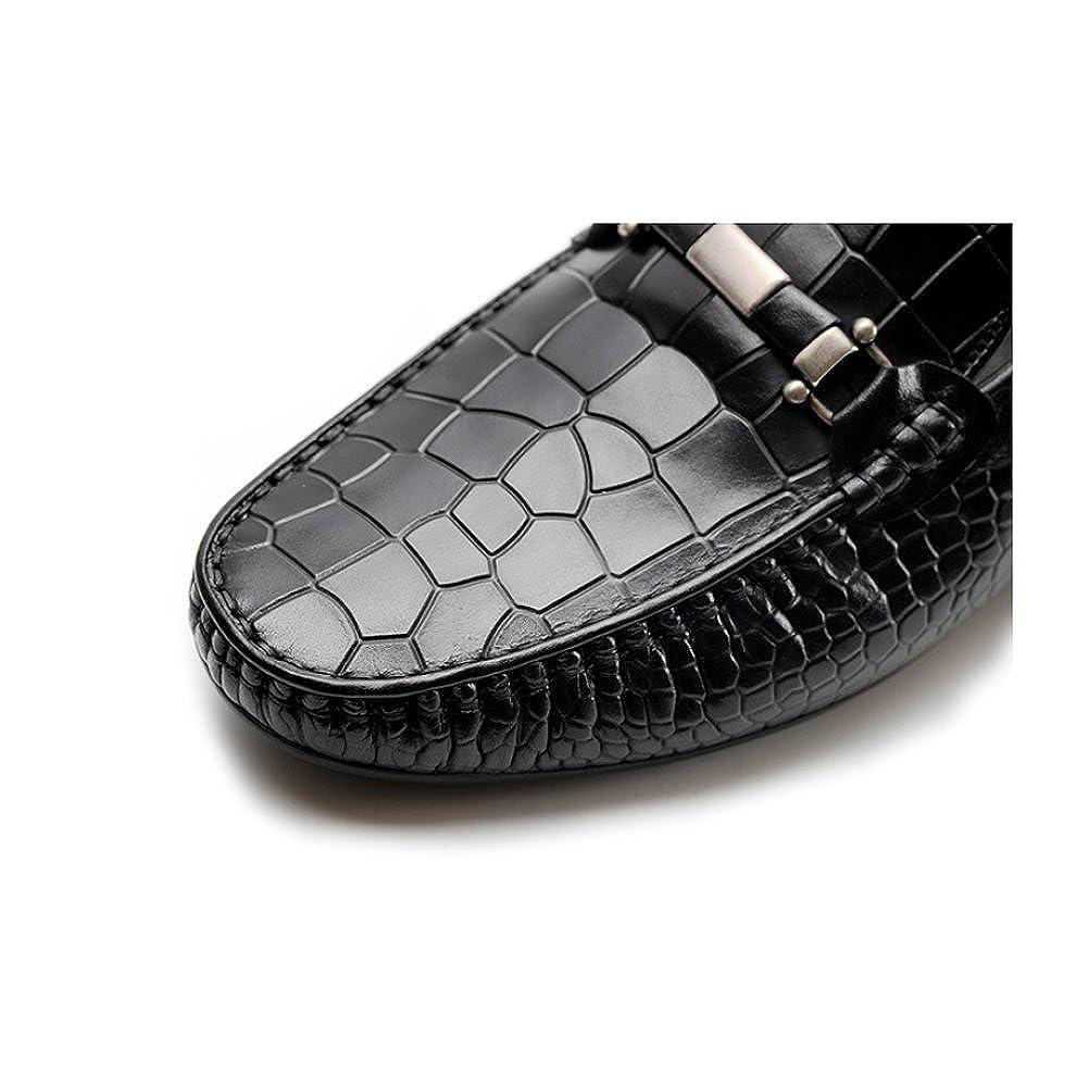 LYZGF Herren Gentleman Crocodile Pattern Sommer Sommer Sommer Casual Stilvolle Faul Fahren Lederschuhe 53af73