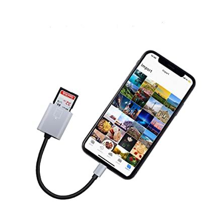 online store 55763 cc4d0 SD Card Reader Compatible iPhone/iPad/iPad, MeloAudio Lightning to SD/TF  Card Camera Reader,Trail Game Camera Viewer Compatible iPhone X/7 Plus/7/6s  ...