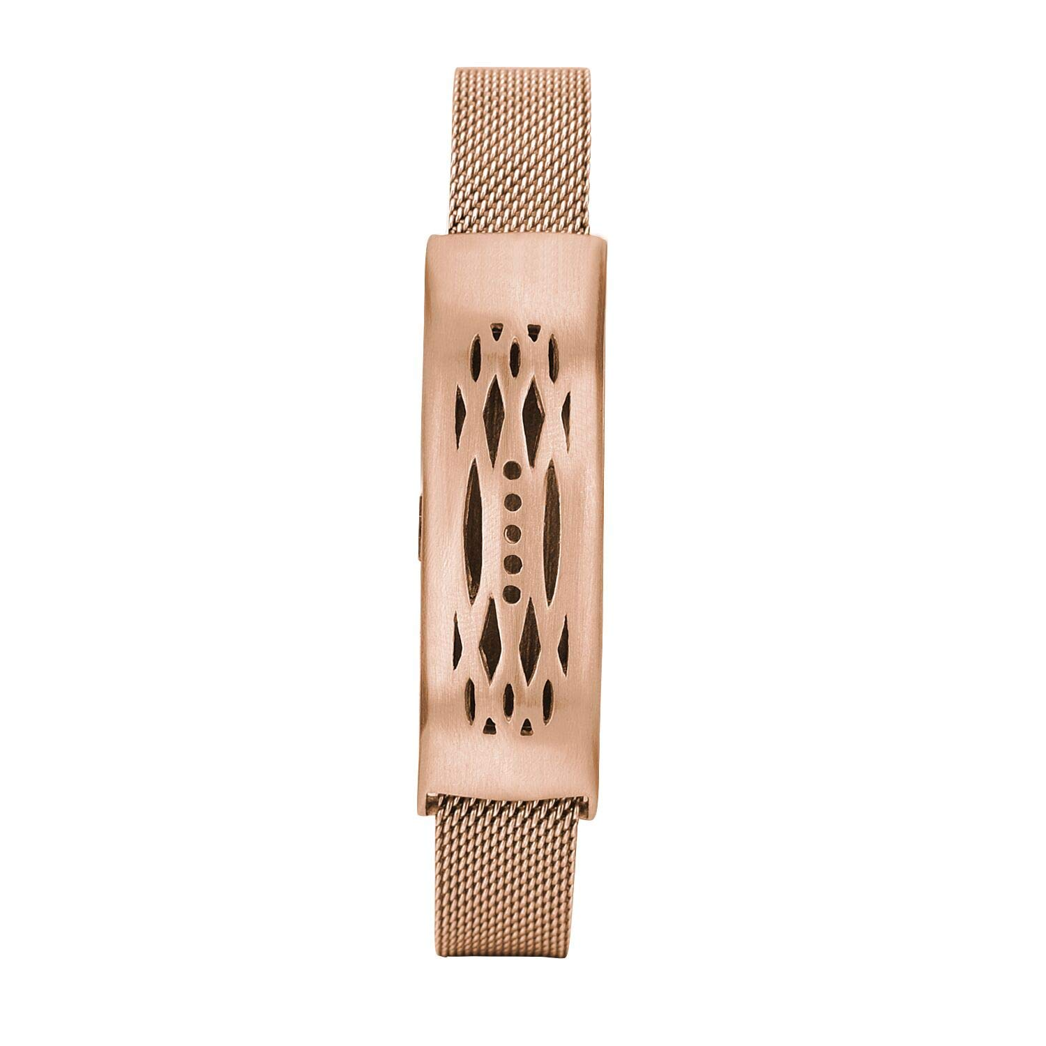 CAGOS Compatible with Fitbit Flex 2 Bands, Stainless Steel Mesh Loop Wrist Metal Mesh Replacement Accessory Replacement for Fitbit Flex 2(Rose Gold) by CAGOS