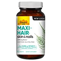Country Life Maxi-Hair - 90 Tablets - Healthier Hair & Skin - Strong Nails - Vegetarian - B Vitamins - MSM - Biotin