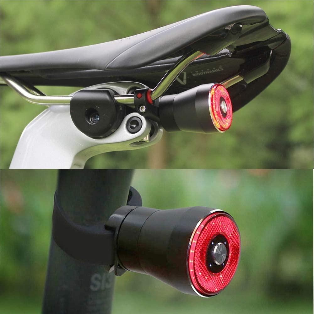 USB Rechargeable Brake Sensing Bike Light Easy to Install for Cycling Safety Taillights EBUYFIRE Ultra Bright Smart Bike Tail Light Red High Intensity Rear LED Accessories Fits On Any Road Bikes