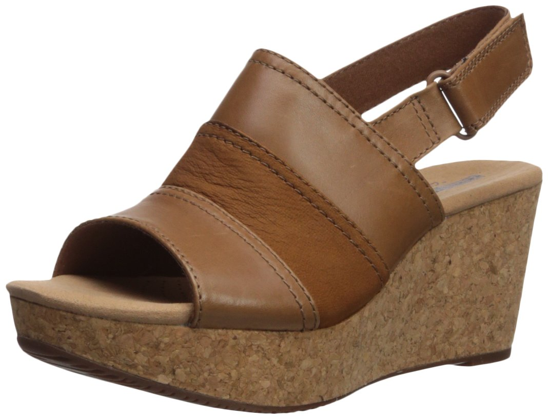 CLARKS Women's Annadel Janis Platform B072MZSG2H 8 M US Dark Tan Leather