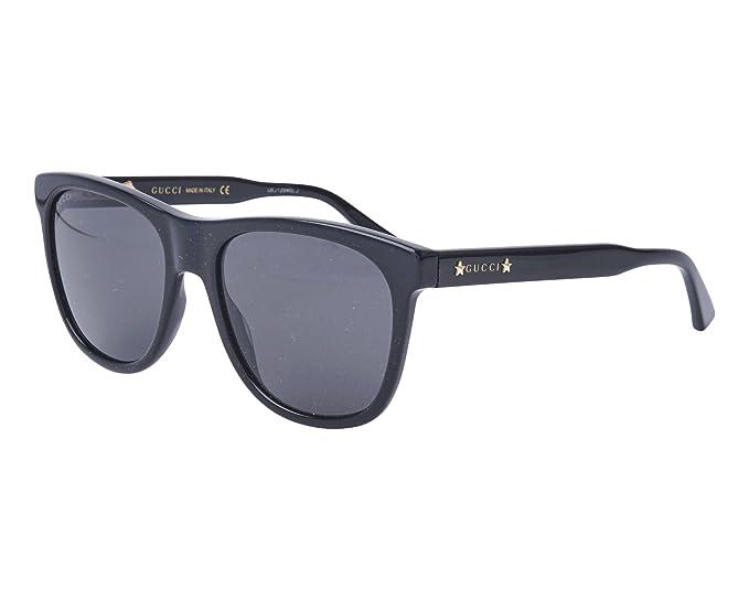 314f09b4b81 Gucci GG0266S 001 Black GG0266S Rectangle Sunglasses Lens Category 3 Size  55mm  Gucci  Amazon.co.uk  Clothing