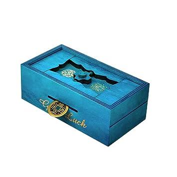 TOYMYTOY Caja Magica Caja secreta rompecabezas de madera Caja de dinero Brain Teaser Caja de regalo (Buena suerte): Amazon.es: Juguetes y juegos