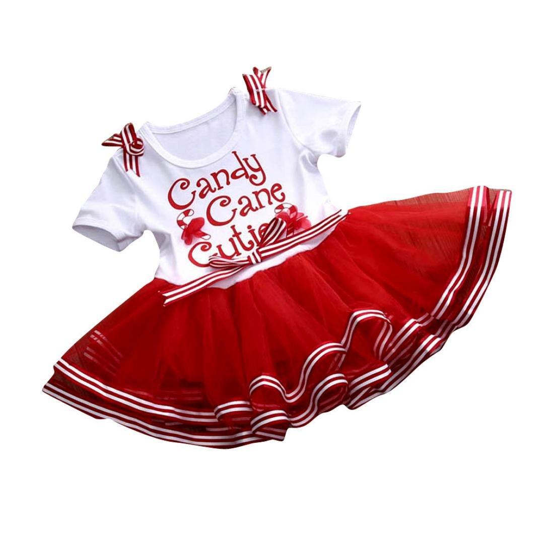 AMA(TM) Toddler Baby Girls Christmas Party New Year Xmas TuTu Dress