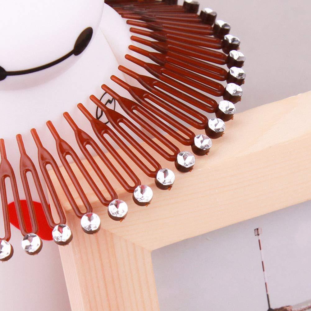FLEXI COMBS Spring Sports Plastic Hair Band  Headband Wig Comb Hair Hoop Comb