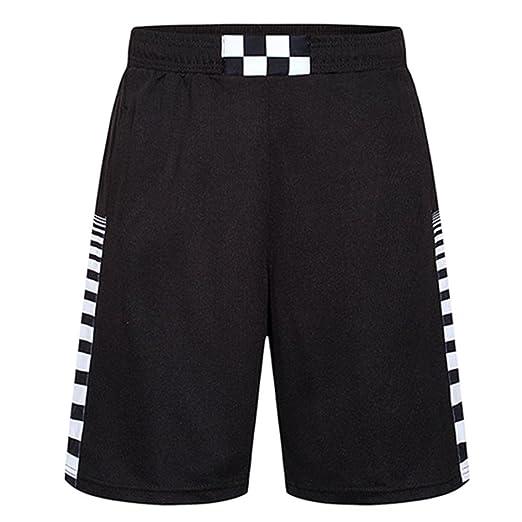 2b846f07cb6 WUAI Men's Swim Trunks Breathable Fitness Beach Sport Running Plus Size  Loose Shorts Pants(Black
