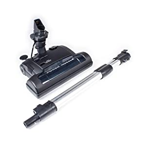 Ultra Clean Advanced Electric Powerhead with Integrated Wand for Central Vacuum Systems (Black)