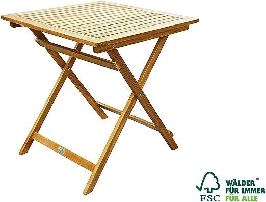 Mesa para balcón de madera maciza de acacia de Sam, para jardín ...