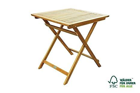 SAM® Table de Balcon en Bois d\'acacia, avec Une Mesure de 70 x 70 cm, idéal  pour Balcon, terrasse, Jardin, certifié FSC® 100%