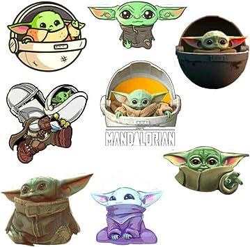 Star Wars The Mandalorian Baby Yoda Sticker Laptop Bicycle Luggage Car Stickers