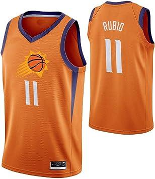 S&K Camiseta Ricky Rubio Phoenix Suns Naranja, Camiseta Ricky Rubio Phoenix Suns Statement Edición Swingman para Hombre (Naranja, L): Amazon.es: Deportes y aire libre