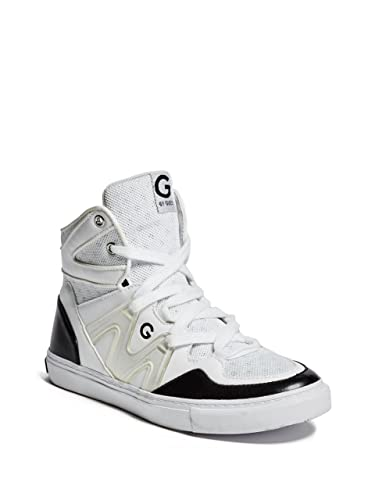 G By Guess Women's Otrend High Top Sneakers White Faux Leather Shoes Sz 7.5