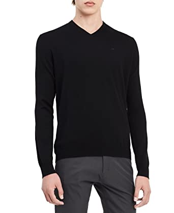 fce48480c Calvin Klein Men s Merino Sweater V-Neck Solid at Amazon Men s ...