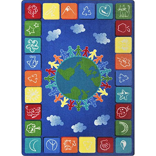 Joy Carpets Kid Essentials Geography & Environment One World Rug, Primary, 7'8'' x 10'9'' by Joy Carpets