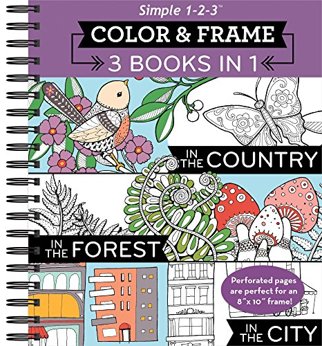 Color & Frame Coloring Book - 3 in 1 - Country, Forest, (Best Book Of Colors)