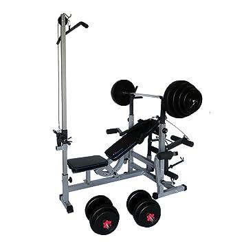 Uni Best Banco de pesas Fuerza Station Fitness Center pro508 con ...