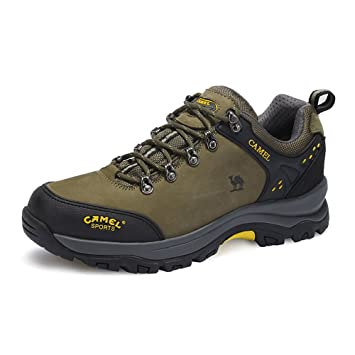 CAMEL Men's Outdoor Hiking Shoes Low-top Professional Non slip Breathable  Outdoor Sneaker Color Army