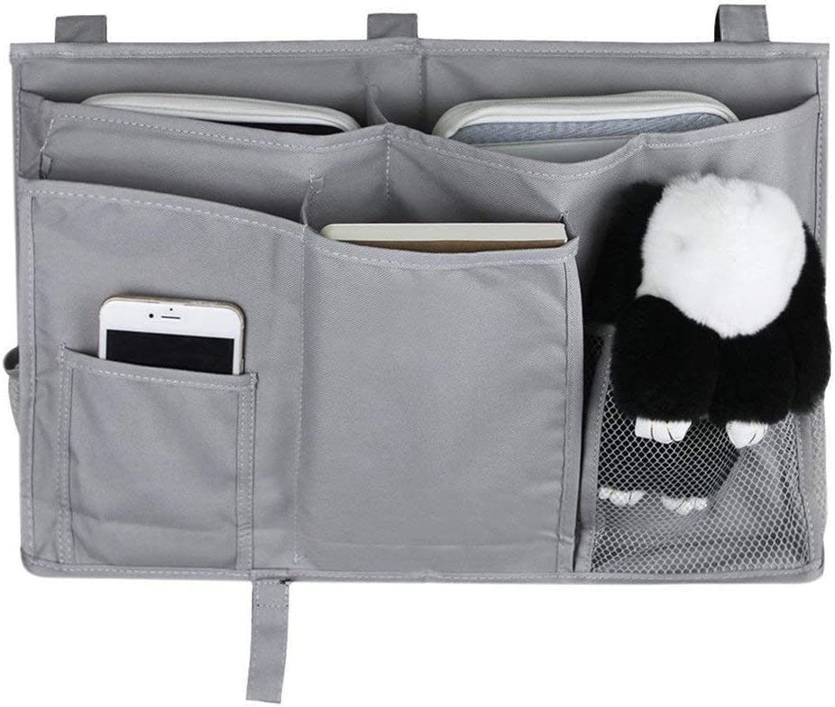 Bedside Caddy Hanging Storage Bag Bunk Hospital Beds MoYag Bedside Storage Organizer Black Dorm Rooms Bed Rails,Baby Bed,Baby Cart,Car Backrest 8 Pockets