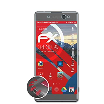 atFoliX Anti-Choque Lámina Protectora de Pantalla Compatible con Sony Xperia XA Ultra Antichoque Película Protectora, antirreflectante y Flexible FX Película Protectora (3X): Amazon.es: Electrónica