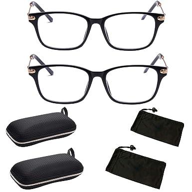 e8d1e163648 Nearsighted Myopia Computer Glasses Anti Eyestrain Men Women Comfort Fit (2  PK