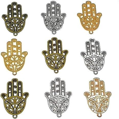 10Pcs Antique Silver Filigree Lotus Flower Charms Pendants DIY Jewelry Findings