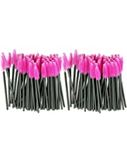LHWY 2017 100pcs / lot brosse rose fibres synthétiques One-Off Maquillage jetable Cils Brush