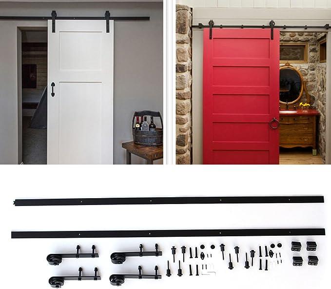 Homgrace - Kit básico de herramientas deslizantes para puerta corredera, muy suave y silencioso, fácil de instalar para cocina, sala de estar, armarios, baño: Amazon.es: Bricolaje y herramientas