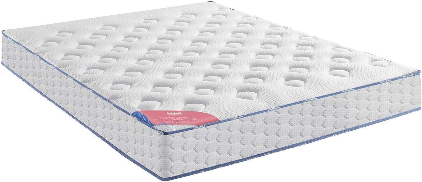 Dunlopillo Encantado Conjunto colchón y somier + Patas, Blanco y Gris