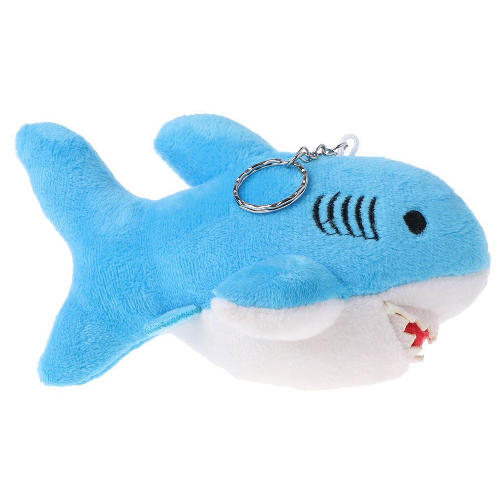 HotelLee Funny Plush Keychain Stuffed Animal Plush Dolphin Toys (Blue)