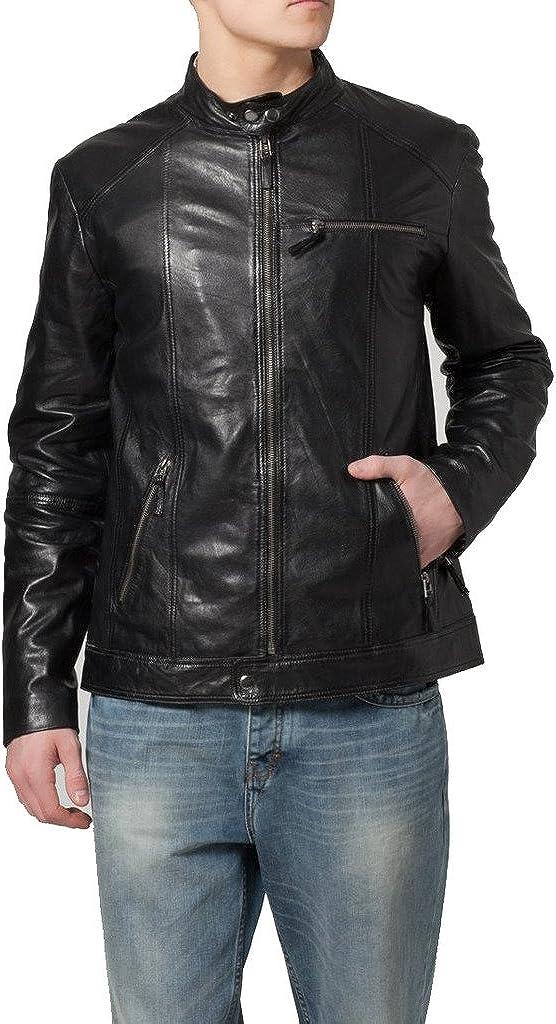 Genuine Sheep Leather Mens Slim Fit Party Jacket LT351