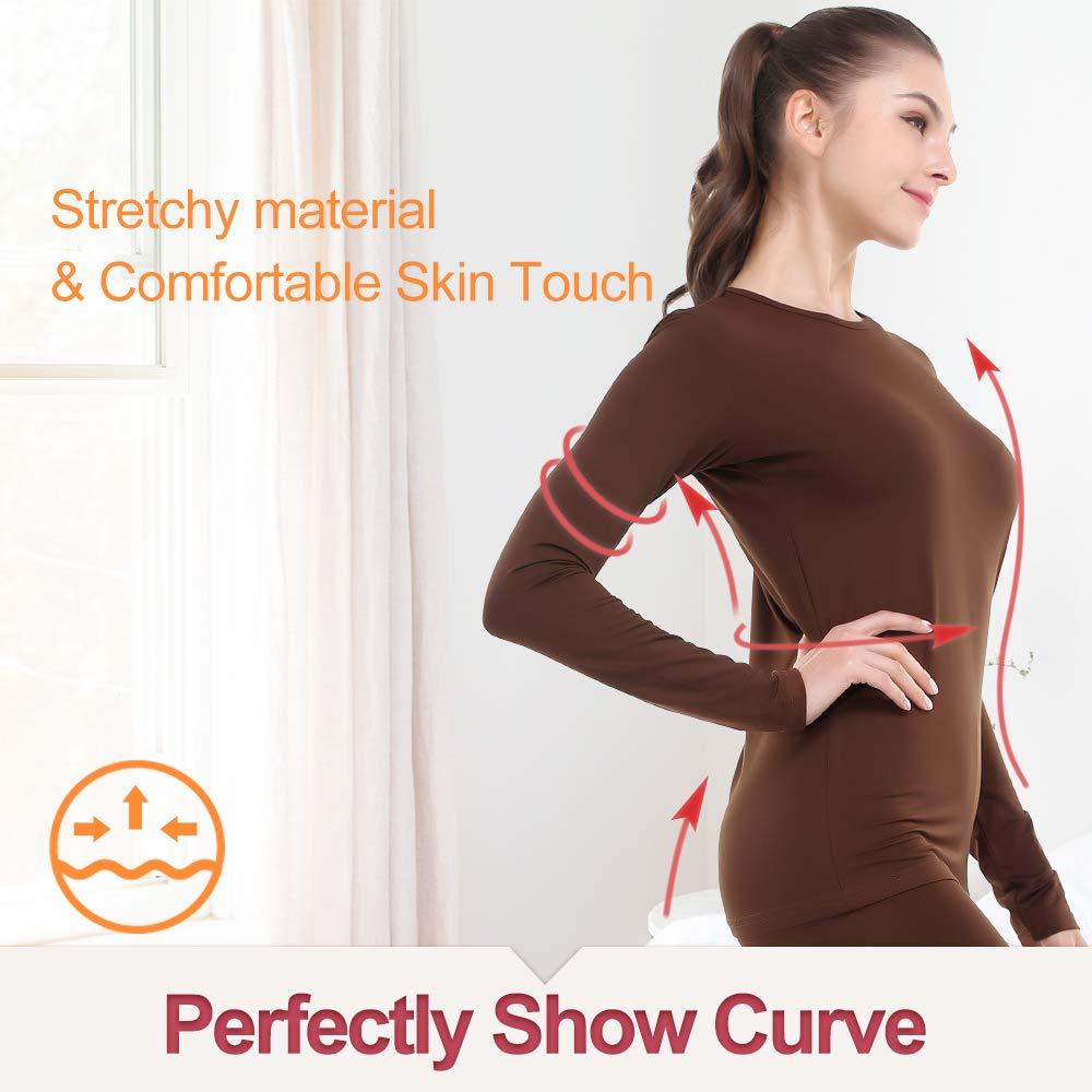 Thermal Underwear for Women Long Johns Set Fleece Lined Ultra Soft