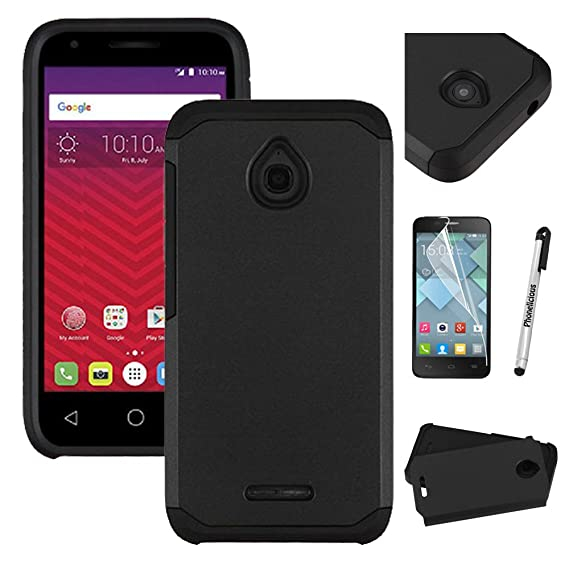 """newest 59dbf ec331 For ALCATEL OneTouch Pixi 4 (4.5"""") Case, Phonelicious [Slim] Dual Layer  Durable Hybrid [Drop Protection][Shockproof] Phone Cover + Screen Protector  ..."""