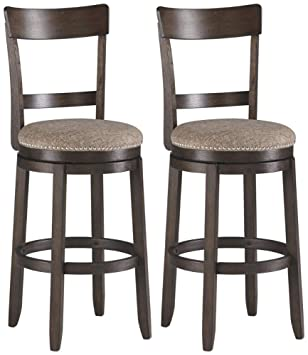 Fantastic Ashley Furniture Signature Design Drewing Bar Stools Bar Height Open Back Set Of 2 Brown Pabps2019 Chair Design Images Pabps2019Com