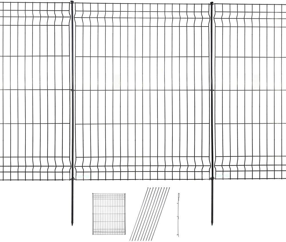 Hopesun Decorative Garden Fence Fast Installation Multi-Purpose Metal Pet Fence Kit Outdoor
