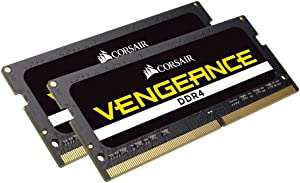 Corsair Vengeance Performance Memory Kit 32GB DDR4 2666MHz CL18 Unbuffered SODIMM, (2 x 16GB) (CMSX32GX4M2A2666C18)