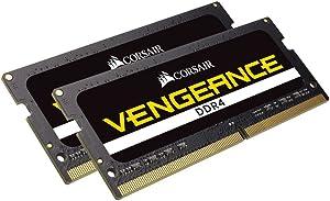 Corsair Vengeance Performance Memory Kit 32GB DDR4 2666MHz CL18 Unbuffered SODIMM, (2 x 16GB) (CMSX32GX4M2A2666C18)