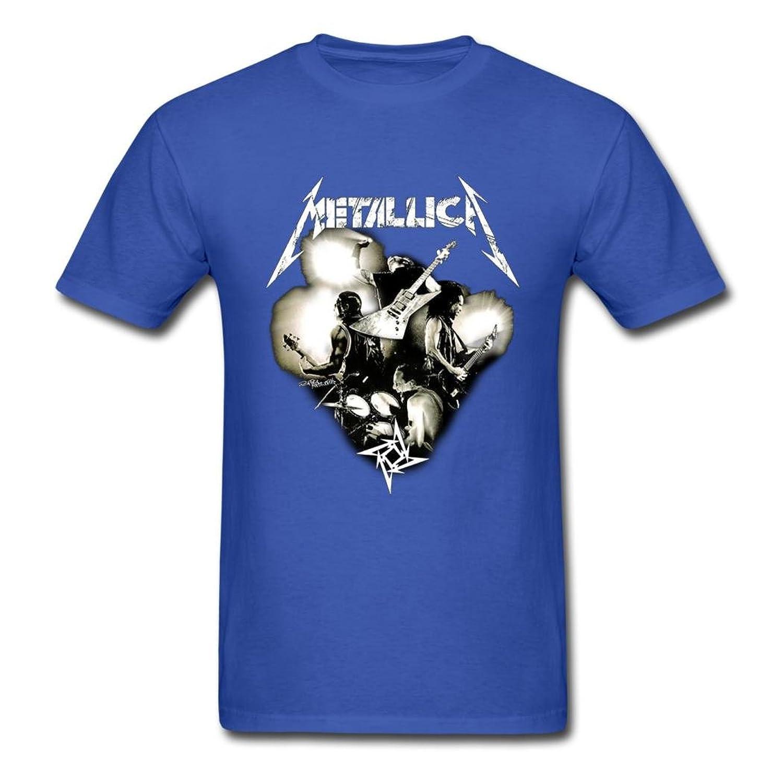 CONGER Fashion Metallica Poster Men Tee Royal blue