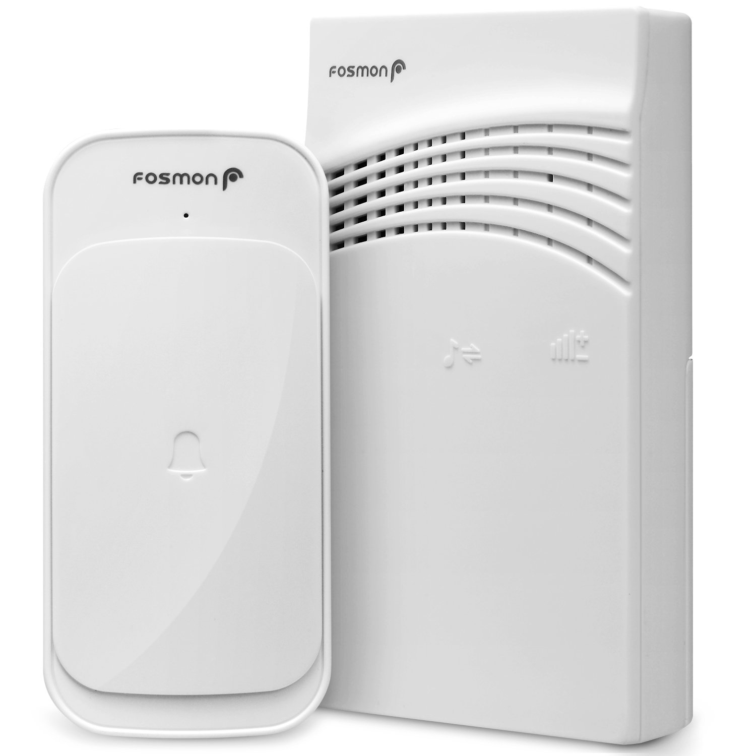 Fosmon Wireless Doorbell Chime Battery Operated [918 Feet 58 Ringtones 95dB] Portable Doorbell Alert Paging Device, 1 Receiver 1 Transmitter, Weather Resistant Doorbell Home, Office, Business