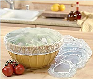 Set of 48 Reusable Elastic Bowl, Dish & Plate Covers - 3 Sizes