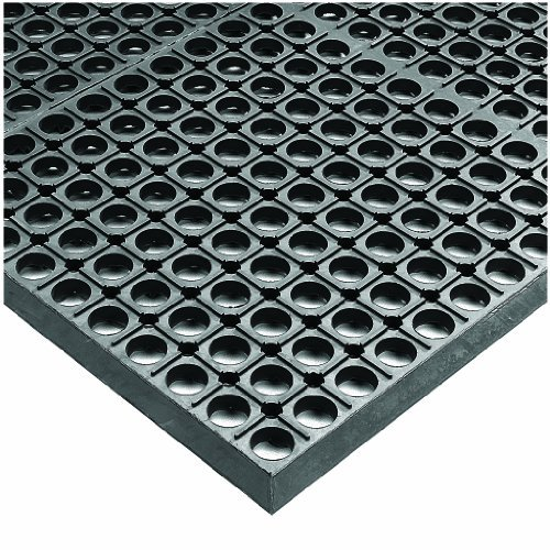 Wearwell Industrial Worksafe Mat - Wearwell Rubber 478 WorkSafe Heavy Duty Anti-Fatigue Mat, for Wet Areas, 3' Width x 5' Length x 1/2 Thickness, Gray by Wearwell Industrial