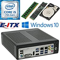 E-ITX ITX350 Asrock H270M-ITX-AC Intel Core i5-7400 (Kaby Lake) Mini-ITX System , 4GB DDR4, 120GB M.2 SSD, 1TB HDD, WiFi, Bluetooth, Window 10 Pro Installed & Configured by E-ITX