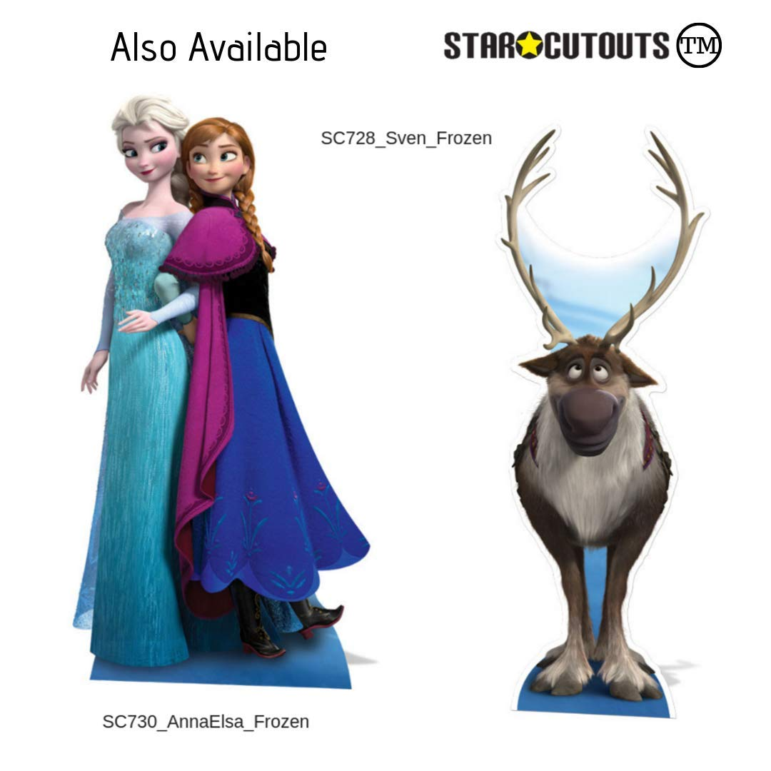 fiestas y eventos multicolor altura 182 cm Star Cutouts SC1424 Ltd Anna and Elsa Journey Together Recorrido perfecto para fan/áticos de Frozen ancho 96 cm